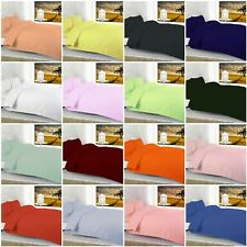 Luxury Duvet Quilt Cover Sets Plain Dyed 68 Pic High Quality Bedding 40% off RRP