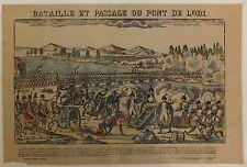 """Napoléon Ier Imagerie d'Epinal """"Bataille et passage du mont de Lodi"""" Vers 1860"""