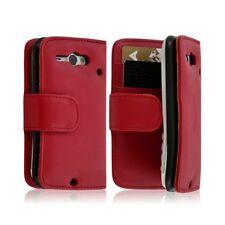 Housse Coque Etui Portefeuille pour HTC ChaCha couleur rouge