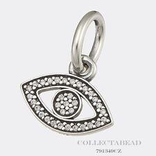 Authentic Pandora Sterling Silver Hanging Eye Dangle Pendant   791349CZ