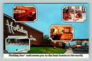 Florence KY, Holiday Inn, Montage Of Images, Chrome Kentucky Postcard