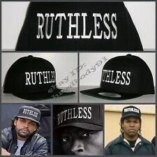 NEW Black Ruthless Snapback Hat Cap NWA Straight Outta Compton Eazy E Ice Cube