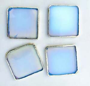 Indian Glass Opal Set Of 4 Large Coffee Tea Coasters Personalized Moments