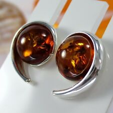 A285 Ohrringe Earrings baltischer Bernstein Amber 925 Silber Schmuck Modern