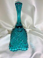 VINTAGE Fenton Art Glass Aqua Blue Bell
