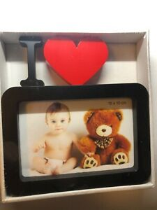 Adorable Black & Red I Heart Picture Frame- 4x6 Great Gift~BNIB WORLD SHIPPING!