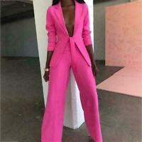Sexy Women Notch Lapel Tuxedos Formal 2 Pcs Suits V-Neck Jackets Custom Made New