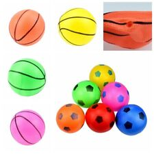 2Pcs 6Inch Small Basketball Football Durable PVC Bouncy Ball Kids Toy Playing