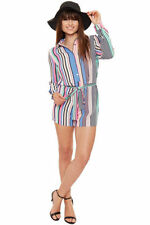 Women's Collared Striped Jumpsuits & Playsuits