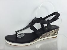 Cole Haan Womens Black Leather Sandals 8 B