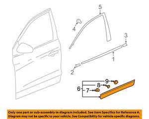 Buick GM OEM 13-16 Enclave Front Door-Lower Molding Trim Left 22985083