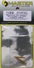 Master 1/32 Browning M2 Aircraft 0.50 Calibre Gun Barrels # 32001