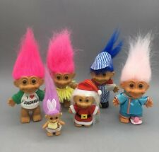 Russ Trolls in Outfits Lot of 6 Dolls - Fast Free Shipping - C23