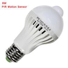 E27 9W PIR Infrarot Bewegung Sensor LED Licht Birne Gang Lampe Kaltes Weiß