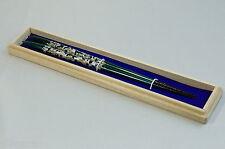 "Japanese Chopsticks ""Midnight Sun Green"" Wakasa Lacquerware Abalone Decorate"