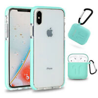 Shockproof Hybrid Bumper TPU Case For iPhone Ten 10 XS XR XS Max +Airpods Cover