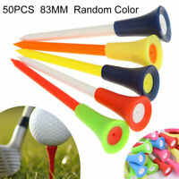 50 Stk.Golf Tees Kunststoff Gummi Plastik Tee Kissen Halter 83mm Golftees