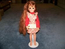 Vintage 1969 18 inch Crissy Doll with stand, hair that grows.