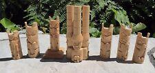 Northwest Coast Native lot of 7 Totems Aboriginal Indigenous Signed