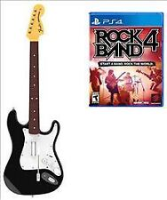 Rock Band 4 PS4 One Wireless Guitar Bundle Over 60 Tracks Shows Mode..