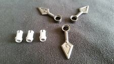 LEGO NINJAGO SPINNER WEAPON - DARK GRAY SPINNER BLADES (X3) WITH ATTACHMENT PIN