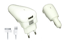 Ladegerät Zigarettenanzünder / Feuerzeug Ipad 2 Stecker Rot USB 2100mA iPhone 4
