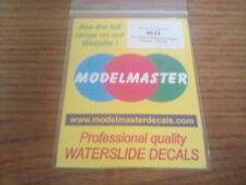 Modelmaster 4631 BR Grampus Transfers - Yellow