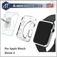 For Apple Watch Series 5 4 40MM / 44MM 3D Full Cover Screen Protector+ Soft Case