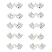 10×2pin L Form LED Verbindungsstück Eckverbinder für 10mm 5050/5630 LED Streifen