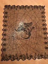 Black Spider Web Lace Halloween Table Cloth Party Decor Gothic Cob Tablecover