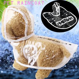 Waterproof puppy dog Transparent cat Pet Products dog raincoat Jacket Rain suit