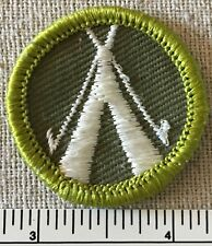 Vintage CAMPING Boy Scouts MERIT BADGE PATCH Uniform Sash TWILL Rolled Edge BSA