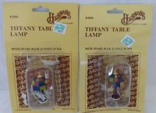 "2 NEW Houseworks 1"" 12 Volt Tiffany Style Table Lamp Light Dollhouse #2006 NOS"