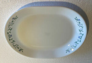 """CORNING CORELLE COUNTRY COTTAGE  BLUE HEARTS  12"""" SERVING PLATTER"""
