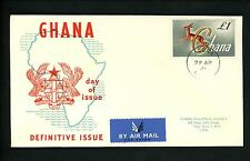 Postal History Ghana FDC #97 Animal Gazelle Definitive Issue 1961