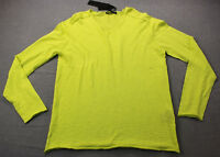 ANTONY MORATO Mens Lime Save the Green Knit Scoop Neck Sweater  NWT  XL  $187