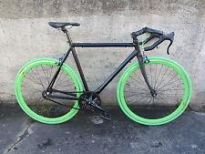 ** Singlespeed Rennrad schwarz grün Einzelstück neu Garantie**
