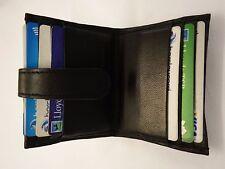 Titolare della carta di credito in pelle nera SLIM per 12 carte