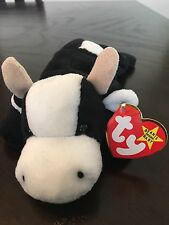 Daisy The Cow Ty Beanie Baby. Mwmt, Rare, P.V.C. Pellets and Authenicated.