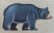 HP Needlepoint 18ct SUSAN ROBERTS/TAP TENT Black Bear Ornament-XG12