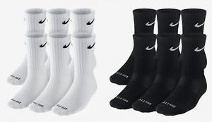 Mens NIKE Everyday Performance PLUS Crew Socks Pick 1 - 3 - 6 Pairs Dri Fit NEW