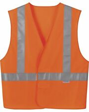 Men's Big N Tall High Quality Vertical Stripe Safety Vest 4XL / 5XL