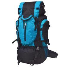 vidaXL Mochila Excursionismo XXL Impermeable Poliéster 75L Negro y Gris/Azul/Ver