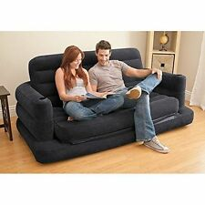 """Inflatable Sofa Bed Pull-out Queen Intex Couch 76"""" X 87"""" X 26"""" Blow-up Mattress"""