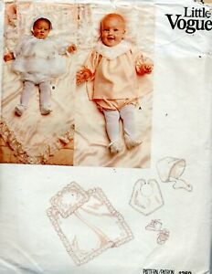 Cut Vogue Sewing Pattern Infants Baby Christening Layette Size M (26-28 lb)