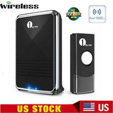 1byone Wireless Doorbell Home Cordless 1000 Feet Long Range Digital Push Bell