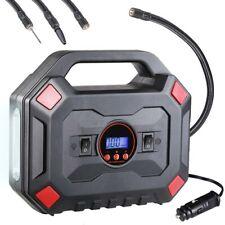 Compressore Aria Auto Portatile 12V 10Ah Ruote Auto con Torcia Luce Emergenza
