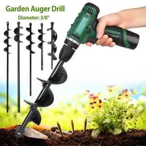 Foret forage en spirale tarière jardin plantation creuser trou terre outil SH