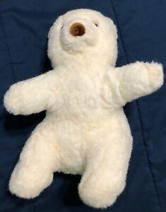 "Gund Collectors Classic White Bear, sitting, 10"""