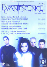 Evanescence Uk 2003 Original Concert Poster